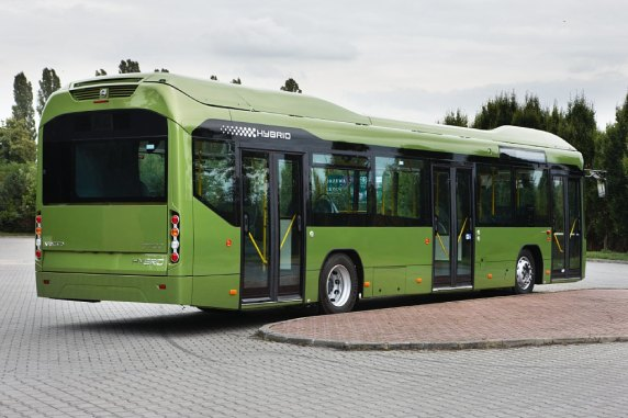 Volvo 7700 hybride citybus (rear)  - photo by Volvo Bus